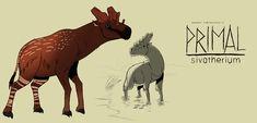 Prehistoric Wildlife, Prehistoric Age, Dinosaurs Tv, Character Art, Character Design, Creature Drawings, Dinosaur Art, Monster Art, Anime Sketch