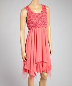 Watermelon Red Handkerchief Dress