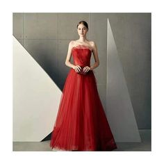 Red party dress strapless evening dress tulle applique prom dress backless long formal dress