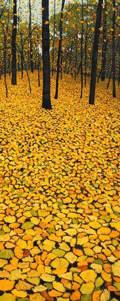 Mark Berens - Golden Carpet; oil on board www.photographytalk.com