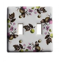 #Switch #Plate White #Porcelain Apple Tree 2 Toggle Switch # 23427 Shop --> http://www.rensup.com/Switchplates/Switchplates-White-Porcelain-Apple-Tree-2-Toggle-Switch-Plate/pd/23427.htm?CFID=2637774&CFTOKEN=f4873a85f8a007c8-FEA26157-B9A2-0D4D-453227B9EC730E20