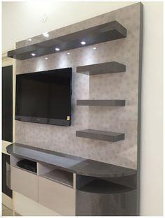 Tv unit in common bedroom modern style bedroom by Lcd Unit Design, Lcd Wall Design, Modern Tv Unit Designs, Tv Unit Interior Design, Tv Unit Furniture Design, Wall Unit Designs, Living Room Tv Unit Designs, Bedroom Tv Unit Design, Tv Unit For Bedroom