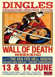 bed and breakfast for wall of death at dingles 2016 Motorcycle Posters, Motorcycle Art, Old Circus, Devon And Cornwall, Heritage Center, Poster Ads, Bed And Breakfast, Vintage Posters, Poster