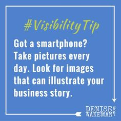 #VisibilityTip - You've got a fabulous tool to help you build an archive of images you can use to illustrate and tell your business story. Use it!  #visualcontent :