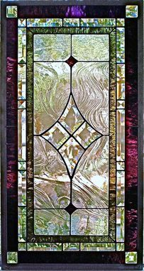 Custom Made Traditional Stained Glass Window/Panel Margo Crane Of Glassmagic Studios