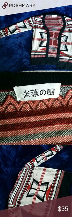 Tribal cardigan! This was ordered from China, it's a med fits small though. FRONT BUTTONS! Sweaters Cardigans
