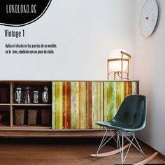 #ViniloDecorativo para #wrapping Vintage 01 usado en las puertas de un mueble / #DecorativeVinyl for #wrapping Vintage 01 used in a furniture doors