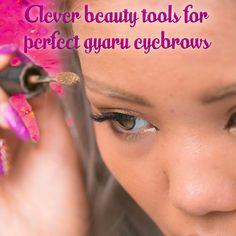 #gyaru #makeup Gyaru Makeup, Eyebrows, Messages, Blog, Eye Brows, Blogging, Brows