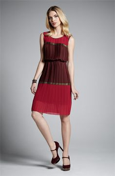 Cute for fall/holidays. BCBGMAXAZRIA Dress & Accessories | Nordstrom