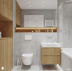 Projekt mieszkania. Kraków Nowe Czyżyny - Mała łazienka w bloku bez okna, styl skandynawski - zdjęcie od PRØJEKTYW | Architektura Wnętrz & Design