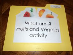 vocab activity for fruits and veggies