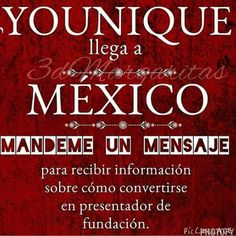 Younique is coming to Mexico May 5th!!!  If you are in the US and speak Spanish you can join now as a Latina Presenter with your site in spanish to get a head start!  www.youniqueproducts.com/ritawill