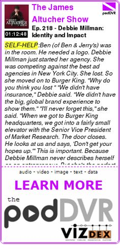 #SELF-HELP #PODCAST  The James Altucher Show    Ep. 218 - Debbie Millman: Identity and Impact    READ:  https://podDVR.COM/?c=094ccbf4-1983-c1db-b34c-9b70ac9183bb