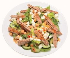 Greek Chopped Pita Salad and other healthy lunches under 400 calories!
