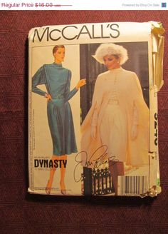 SALE Uncut 1980's McCall's Sewing Pattern 9246 by EarthToMarrs, $11.20