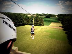 Zipline view from the top platform.