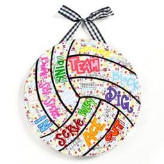 volleyball wall hanging, HATE VOLLEYBALL, great idea for basketball though! @Laura Jayson Jayson Sample