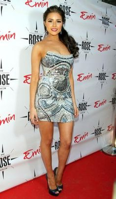 Miss USA Olivia Culpo at the opening The Rose Bar in Moscow, Russia
