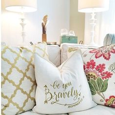 "My favorite bible verse :)  ""Be You, Bravely"" Pillow Cover – Be Still Clothing Company"