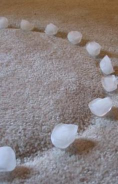 How to remove dents from the carpet.