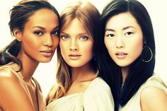 Different women of various ethnicity and backgrounds have beautiful skin tones no matter what nationality.