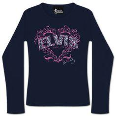 Elvis Scribble Heart Longsleeve T-shirt Long Live, Scribble, Graphic Sweatshirt, T Shirt, Elvis Presley, King, Plates, Costumes, Sweatshirts