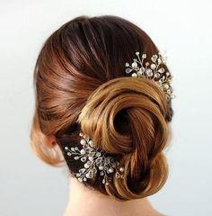 peinados para una boda con moño