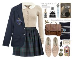 """I'm Ravenclaw"" by alexandra-provenzano ❤ liked on Polyvore featuring Dorothy Perkins, Olympia Le-Tan, Ralph Lauren, Roots and Bertie"