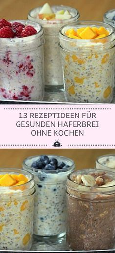 13 recipe ideas for healthy porridge without cooking - the kitch .- 13 Rezeptideen für gesunden Haferbrei ohne Kochen – Die Küche 13 recipe ideas for healthy porridge without cooking – the kitchen - Baby Food Recipes, Healthy Dinner Recipes, Healthy Snacks, Cake Recipes, Diet Snacks, Healthy Cooking, Law Carb, Clean Eating Cookies, Cooking On A Budget