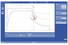 OMNIA 1.2: Magnifying glass function helps clearer definition of the DLCO test sampling interval