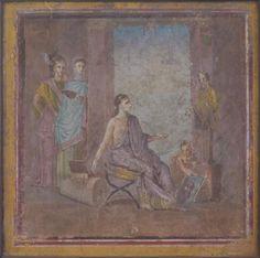 Ancient Roman painting. Naples. Fresco.  Thanks Israel Hershberg. https://www.facebook.com/photo.php?fbid=486560008021887