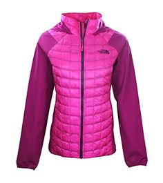 The North Face Women's Thermoball Hybrid Hoodie Jacket GLOW PINK/FURSHIA PINK (XS)