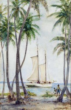 Honduras Artwork By Henry Scott Tuke Oil Painting & Art Prints On Canvas For Sale West Indies Decor, West Indies Style, British West Indies, Tropical Home Decor, Tropical Houses, Tropical Decor, Tropical Bedrooms, Tropical Interior, Tropical Style