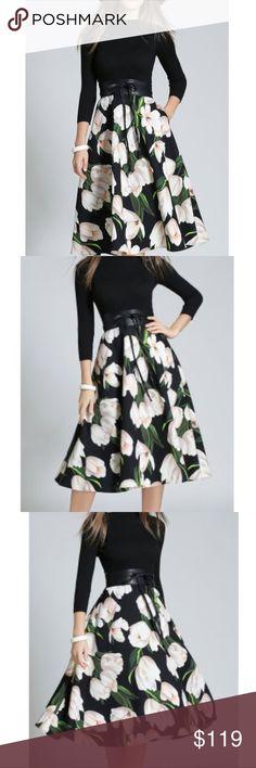 Selling this Stunning A-Line High Waisted Floral Dress on Poshmark! My username is: pgutierrezz. #shopmycloset #poshmark #fashion #shopping #style #forsale #Dresses & Skirts
