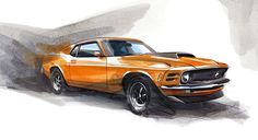 2014-01-25 | Ford Mustang Sketch of the day by Jochen Paesen