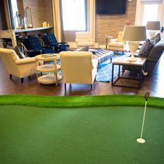Bradford   Cary, NC Indoor Putting Green, And Golf Simulator Room.