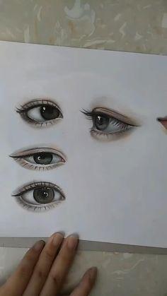 Easy Realistic Drawings, Art Drawings Sketches Simple, Pencil Art Drawings, Colored Pencil Artwork, Color Pencil Art, Pencil Drawing Inspiration, 3d Art Drawing, Eyes Artwork, Art Drawings Beautiful