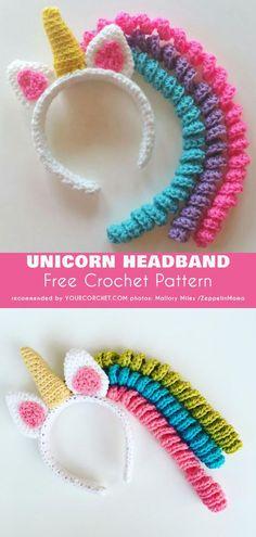 Unicorn Crochet Headband Free Pattern 0cc8db4c389