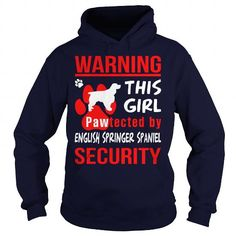 Awesome Tee  Pawtected by English Springer Spaniel security  Shirts & Tees