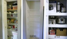 Cover up those cheap-looking wire shelves in a pantry or closet. 42 Ingeniously Easy Ways To Hide The Ugly Stuff In Your Home Covering Wire Shelves, Built In Bathtub, Small Space Solutions, Idee Diy, Wire Shelving, Closet Shelving, Shelving Units, Wood Shelves, Do It Yourself Home