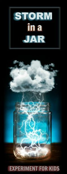 KID SCIENCE: Make a storm in a jar. I can't wait to try this! Wow the kids and make a glowing storm in a jar! This fun science experiment teaches kids all about weather systems and storms (FULL TUTORIAL! Science Projects For Kids, Science For Kids, Kids Crafts, Interesting Science Fair Projects, Kid Projects, Project Ideas, Craft Ideas, Stem Activities, Activities For Kids
