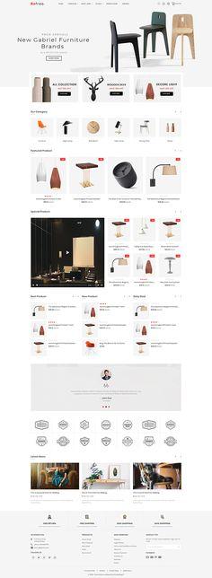 BeeFree - The Furniture Store Template Web Design, Website Design Layout, Design Ideas, Navigation Design, Flower Mobile, Branding Your Business, Photoshop, Custom Fonts, Website Themes