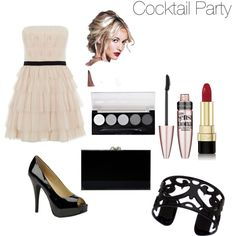 Cocktail Party by alen2562001 on Polyvore featuring polyvore fashion style BCBGMAXAZRIA Chinese Laundry Charlotte Olympia Lisa August Dolce&Gabbana Maybelline