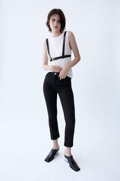 JEANS Z1975 HIGH RISE BASIC SLIM | ZARA España Basic Shorts, Pleated Shorts, Pleated Mini Skirt, Mini Skirts, Modern Hepburn, Packable Jacket, Fringe Jacket, Bow Tops, Disney Dresses