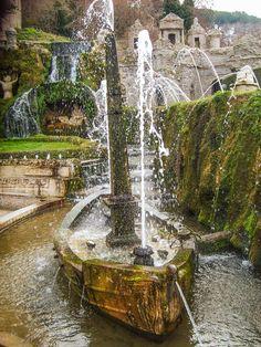 Villa D'Este Gardens, Tivoli, Italy.