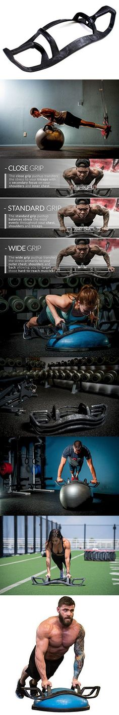 The HELM Core Fitness Strength Training System - Multi Grip Push Up and Plank Device for Balance Ball and Stability Ball (Core Stability Muscle) Garage Gym, Fitness Tips, Fitness Motivation, Health Fitness, Ultimate Workout, Crossfit Gym, Gym Design, Plein Air, Weight Training