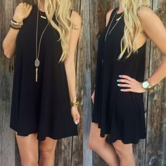 P.S. I Love You More Boutique | Perfect Transitional Dress in black | Spring Summer Fall Winter Fashion. www.psiloveyoumoreboutique.com