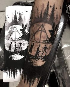 It is Harry Potter! So currently there are various kinds of Harry Potter tattoos available with this type. Hp Tattoo, Tattoo Style, Tattoo Quotes, Compass Tattoo, Tattoo Flash, Tattoo Fonts, Forearm Tattoos, Finger Tattoos, Body Art Tattoos