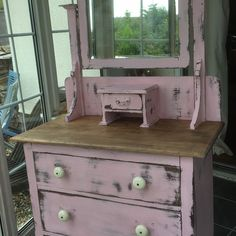 Victorian Shabby Chic Dressing table at Grandads Curious Attic Dorchester Curiosity Centre