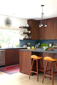 mid century inspired kitchen